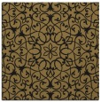 rug #956593 | square mid-brown damask rug