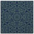 rug #956605 | square blue damask rug