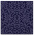 rug #956653 | square blue-violet damask rug