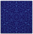 rug #956669 | square blue-violet damask rug
