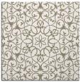 rug #956721 | square mid-brown damask rug