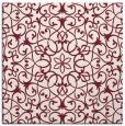 rug #956785 | square pink damask rug