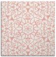 rug #956793 | square white damask rug