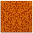 rug #956829 | square red-orange traditional rug