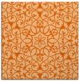 rug #956833 | square red-orange damask rug