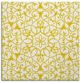 rug #956881 | square yellow damask rug