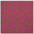 rug #956901 | square light-green geometry rug