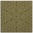 rug #956905 | square light-green damask rug