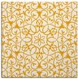 rug #956909 | square light-orange damask rug