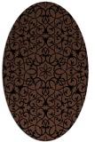 rug #956941 | oval black traditional rug