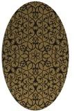 rug #956953   oval brown damask rug