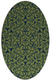 rug #956969 | oval blue traditional rug