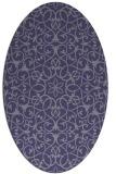rug #957017 | oval blue-violet traditional rug