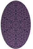 rug #957025 | oval purple geometry rug