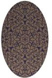 rug #957033 | oval beige traditional rug