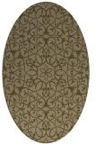 rug #957041   oval brown damask rug