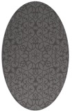 rug #957073 | oval brown damask rug