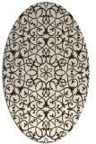 rug #957108 | oval traditional rug