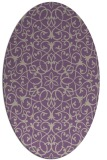 rug #957109 | oval beige geometry rug