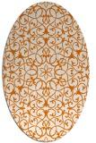 rug #957129 | oval orange geometry rug