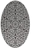 rug #957137 | oval red-orange geometry rug