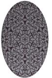 rug #957169 | oval purple damask rug