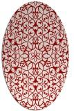 rug #957173   oval red damask rug