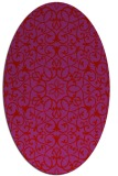 rug #957185 | oval red damask rug