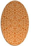 rug #957193 | oval red-orange damask rug