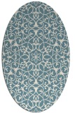 rug #957221   oval white geometry rug