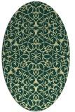rug #957249 | oval yellow traditional rug