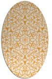 rug #957281 | oval light-orange damask rug