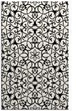 rug #957289 |  black damask rug