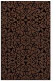 rug #957301 |  brown damask rug
