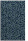 rug #957325 |  blue damask rug
