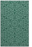 rug #957341 |  blue-green traditional rug