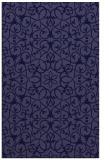 rug #957373 |  blue-violet damask rug
