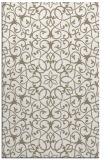 rug #957441 |  white damask rug