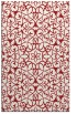 rug #957541 |  red traditional rug