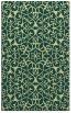 rug #957609 |  blue-green damask rug