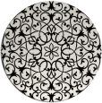 rug #957649   round white damask rug