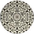 rug #957669 | round black damask rug