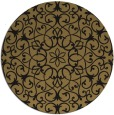 rug #957673 | round mid-brown traditional rug