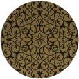 rug #957673 | round mid-brown damask rug