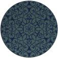 rug #957685 | round damask rug