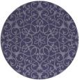 rug #957737 | round blue-violet rug