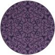 rug #957745 | round purple damask rug