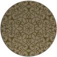rug #957761 | round brown damask rug