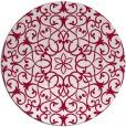 rug #957765 | round red damask rug