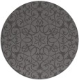 rug #957793 | round brown damask rug